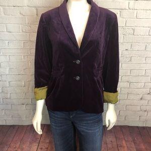 J.crew Purple Velvet Blazer Jacket 8 RV $148 Work